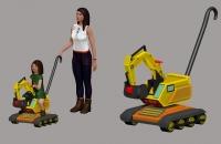 Excavadora juguete - Blanca Frejo