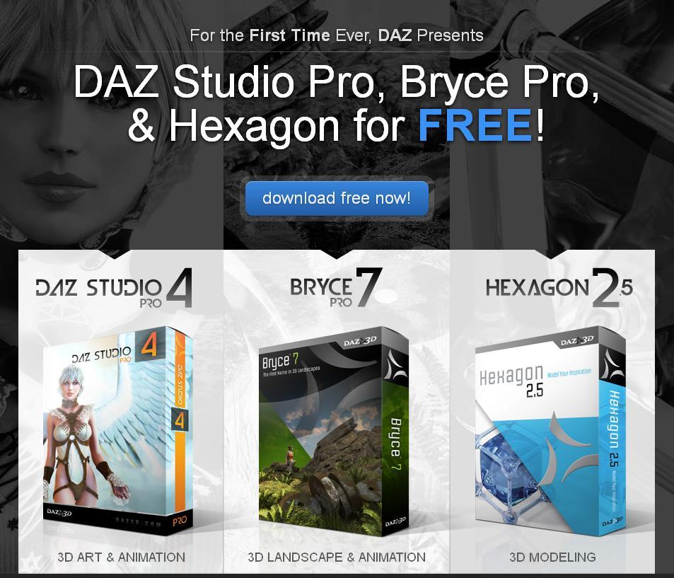 La oferta de DAZ 3D completa.
