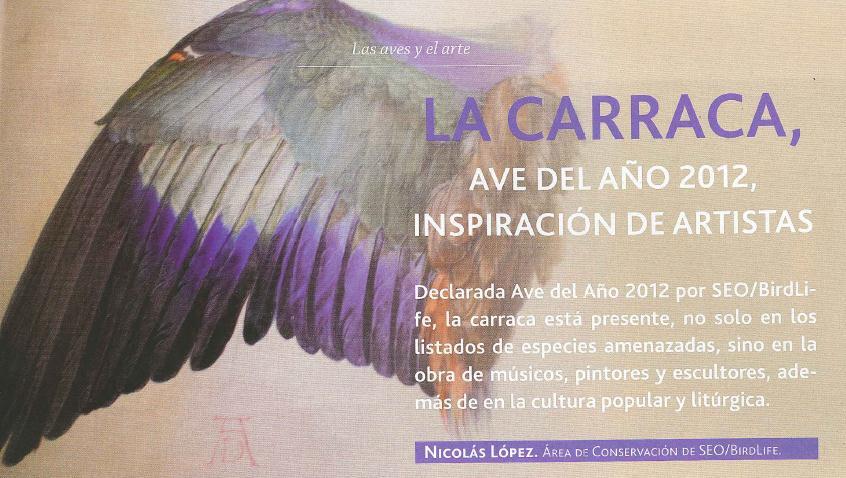 """Artículo de la publicación """"Aves y naturaleza"""", nº 11."""