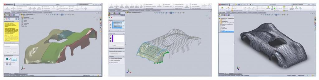 Malla convertida a sólido en SolidWorks