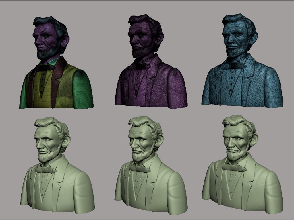 Varios pasos de Decimation sobre el modelo.