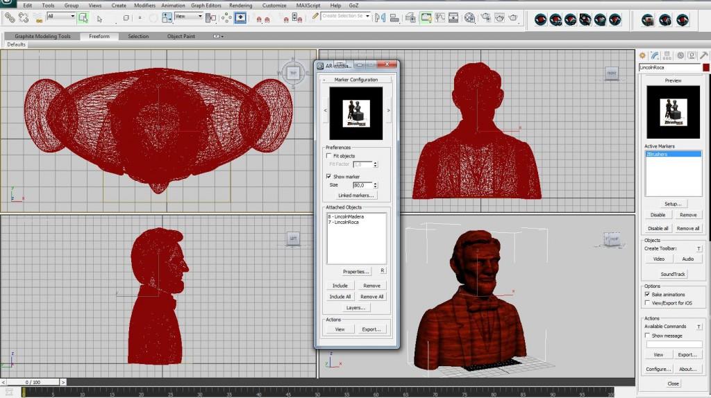 El plugin AR-Media en 3D Studio MAX