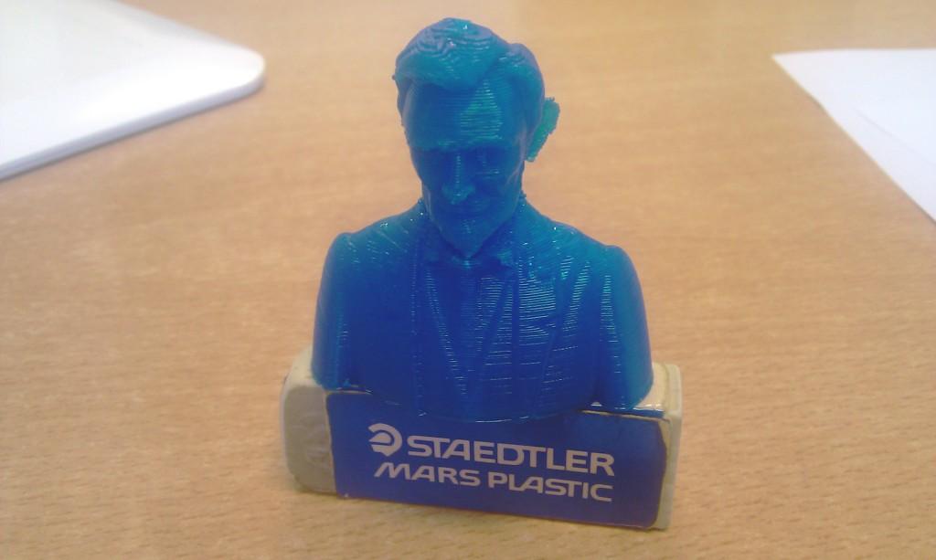 El busto de Lincoln impreso desde ZBrush