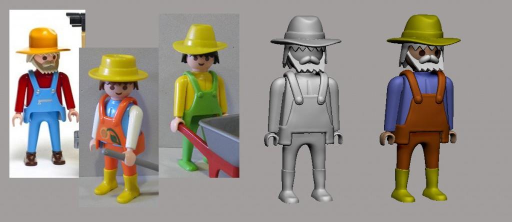 Playmobil agricultor/granjero.