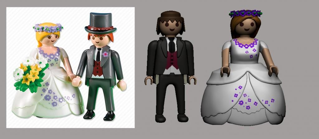Novios Playmobil.