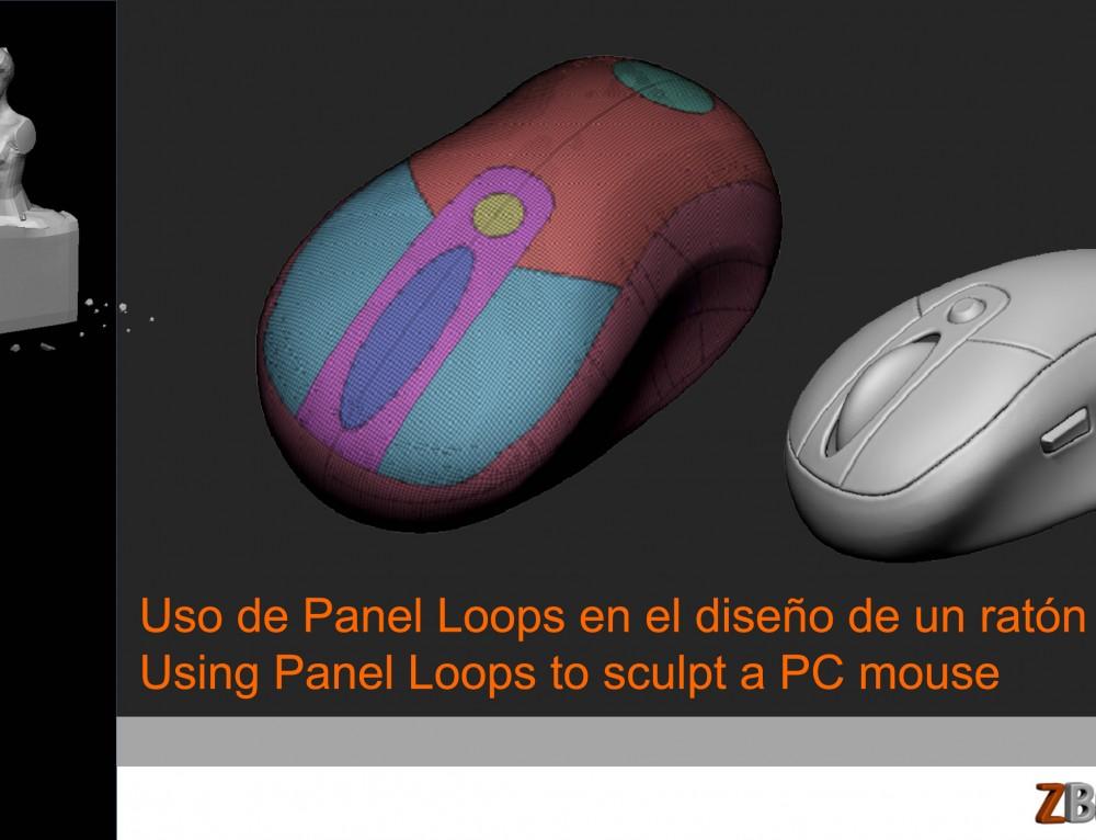 Uso de Panel Loops. Diseño de un ratón para PC.