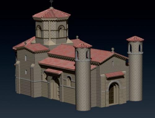 Iglesia medieval en ZBrush