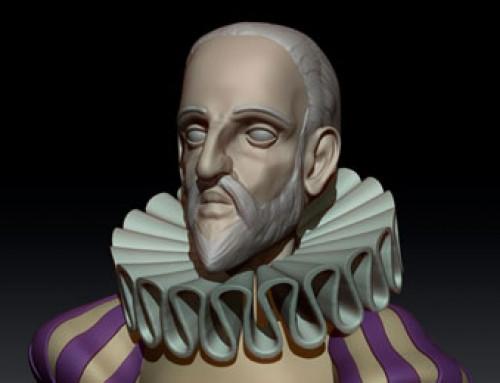 Cervantes en ZBrush (WIP)