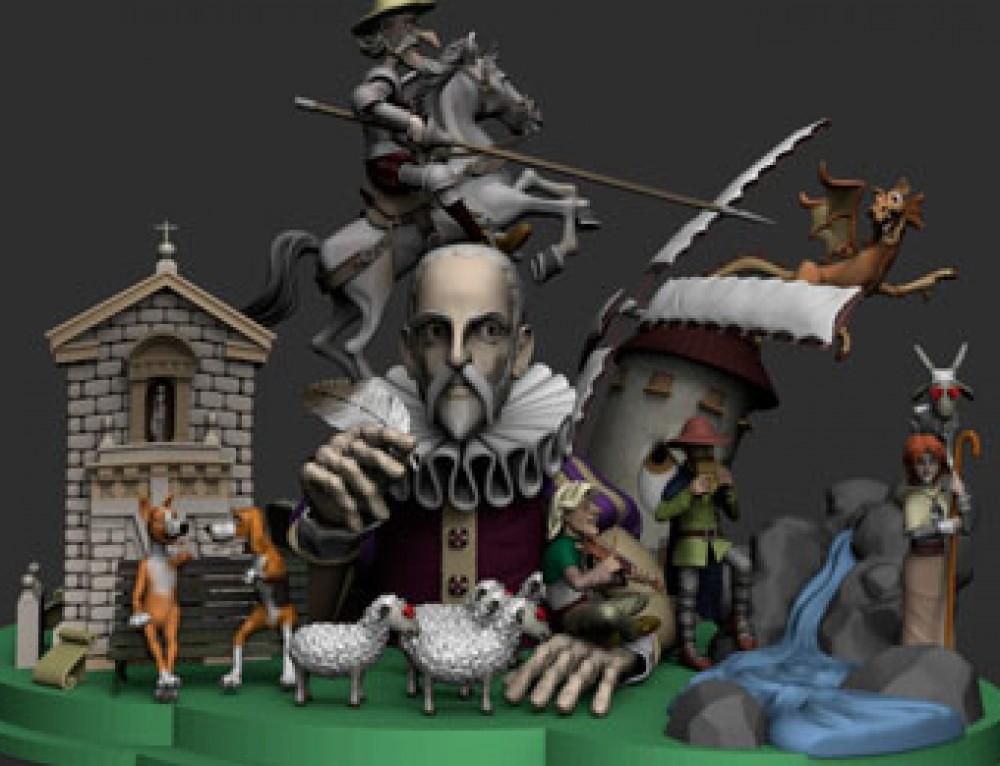Cervantes en ZBrush (WIP II)