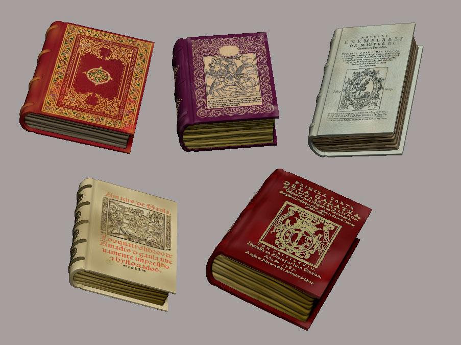 Varios libros en ZBrush