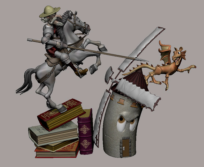Escena de Don Quijote