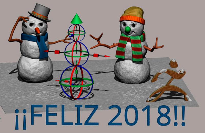 ¡¡Feliz 2018 de parte de ZBrushers!!
