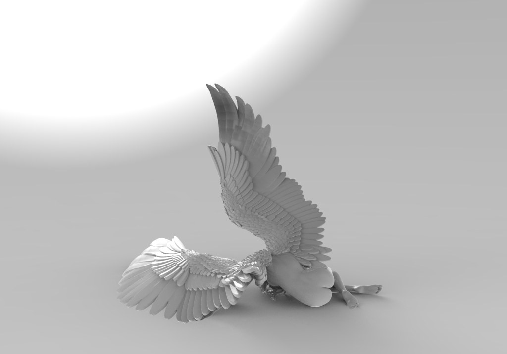 Ángel caído (trasera)